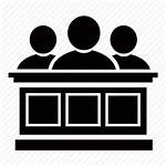 Jury Court Judge Panel Clipart Courthouse Icon