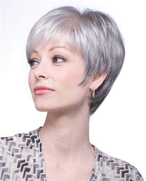 pixie haircuts for gray hair mid length haircuts for grey hair hairstylegalleries 3810