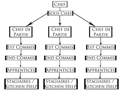 organigramme cuisine how professional kitchens work the commis