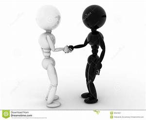 White And Black People Shaking Hands #1 Royalty Free Stock ...