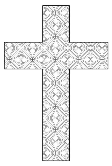 cross coloring page free printable cross coloring pages feltmagnet