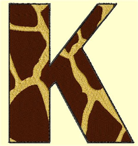 stitches  giraffe font alpha monogram