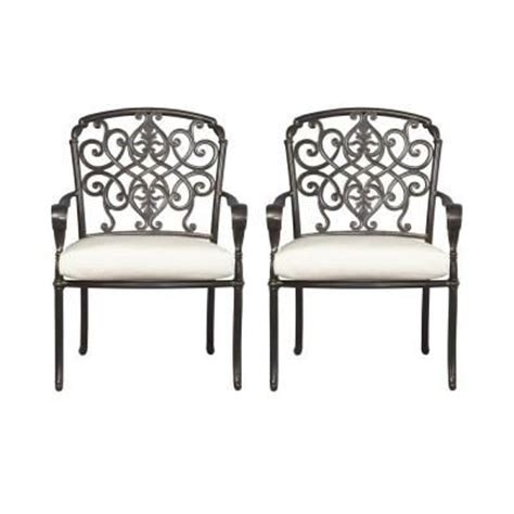 hton bay edington patio dining chair with bare cushion