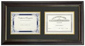 dual vertical diploma frame 2 85 x 11 certificates With dual document frame