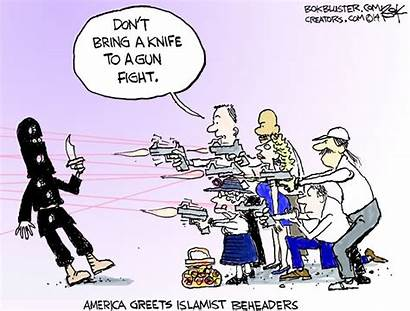 Cartoon Isis America Beheaders Political Bokbluster Expect