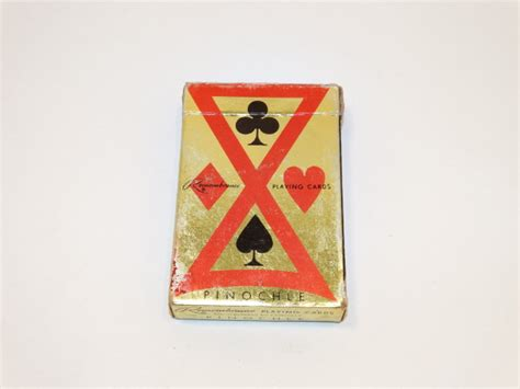 playing cards pinochle deck complete welles die and