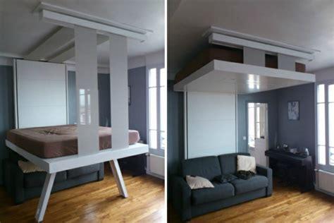 ikea ilot central cuisine un lit escamotable plafond pratique et innovant archzine fr
