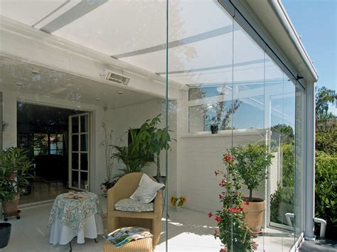 modern designer glass rooms selection blinds awnings