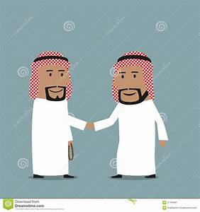 Business Handshake Of Arab Businessmen Stock Vector ...