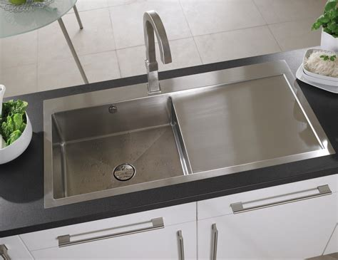 brushed stainless steel sinks kitchen astracast vantage 1 0 bowl brushed stainless steel inset 7975
