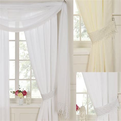 Daisy Rose Lined Voile Curtains   Pencil Pleat Curtains