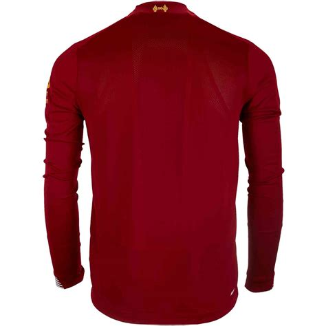 You'll never walk alone supporting the reds in this new look jersey. 2019/20 New Balance Liverpool L/S Home Jersey - SoccerPro