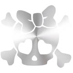 Girly Skull with Bows Decal Stickers