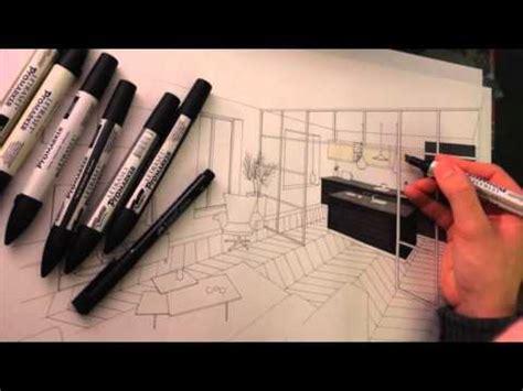 perspective cuisine dessin dessin perspective architecture intérieure