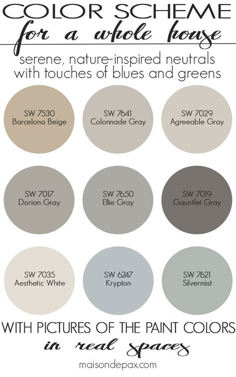 a color scheme for a whole house see paint colors in real