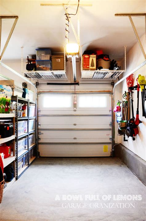 small garage storage ideas 12 organized garage ideas momof6