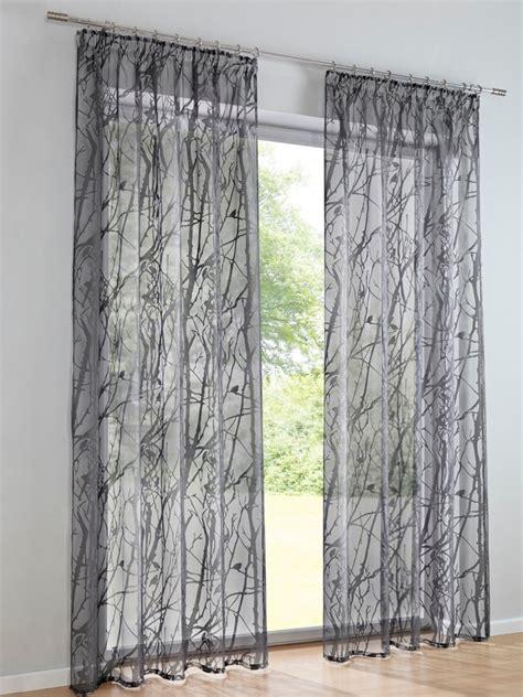 rideaux transparents avec motif de branchages moderne