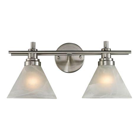 titan lighting pemberton 2 light brushed nickel wall mount