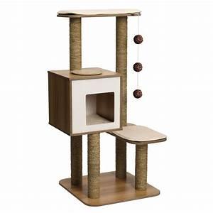 Arbre A Chaton : arbre chat v base haute noyer 52045 achat vente ~ Premium-room.com Idées de Décoration