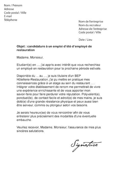 lettre motivation commis cuisine 10 lettre de motivation commis de cuisine modele de lettre