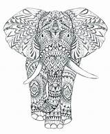 Coloring Pages Elephant Mandala Complex Geometric Animal Head Abstract Adults Drawing Printable Elephants Print Getcolorings Intricate Indian Getdrawings El Colorings sketch template