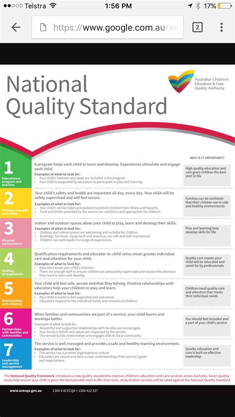 national quality standard early childhood education