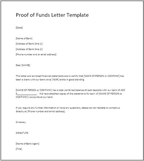 proof  funds pof definition  pof letter