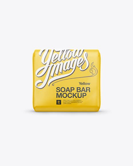 By using smart objects you can easily place you design on soap if you want to use this item for another project, please add a new one using your free quota. Square Soap Bar Mockup in Packaging Mockups on Yellow ...
