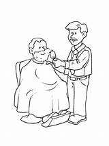 Barber sketch template