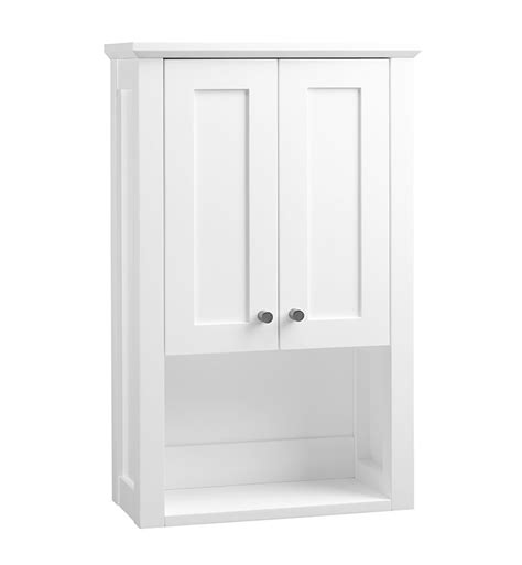 ronbow    shaker bathroom wall cabinet  white