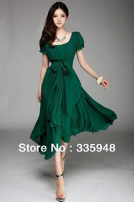 fashion chiffon dress soft vintage ladies