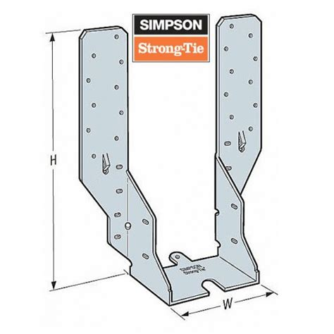 simpson timber to timber joist hanger standard leg 50mm