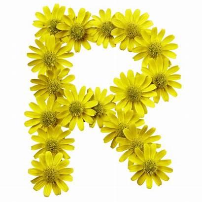 Flowers Yellow Font Flower Letter Handmadefont Typeface