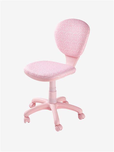 chaise bureau fille chaise de bureau 224 roulettes fleurs vertbaudet