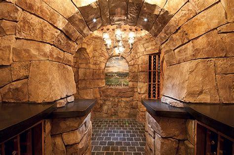 carved vertical concrete  world wine cellar concrete