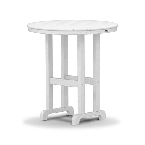 plastic patio table trex outdoor furniture monterey bay 36 in classic white