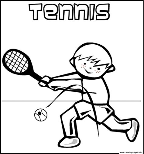 playing tennis  coloring pages printable