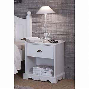 Chevet Blanc Pas Cher : chevet blanc 1 tiroir de style anglais beaux meubles pas chers ~ Teatrodelosmanantiales.com Idées de Décoration