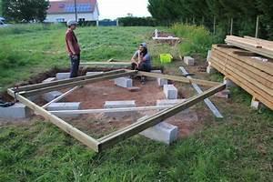 fondations et dalle bois suite et fin abri de jardin With maison bois sur plots 1 fondation et dalle pour une nouvelle construction