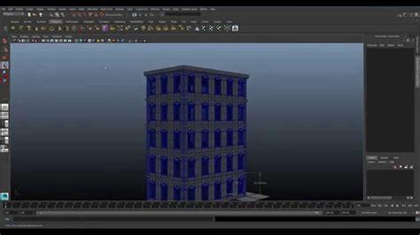 autodesk maya modeling tutorial create  building