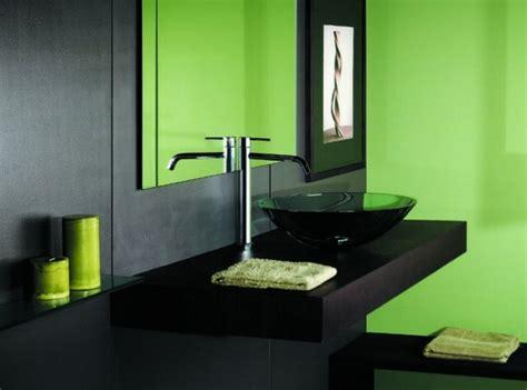 decoration salle de bain en vert originale