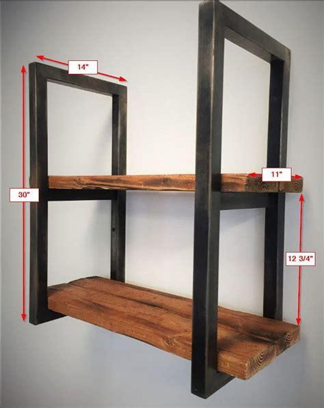 reclaimed wood  steel shelves en  muebles