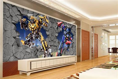 wall paper transformers wallpaper mural wall stickers