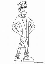 Kratts Wild Kratt Coloring Pages Martin Printable Adults sketch template