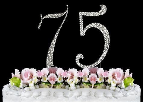 large rhinestone covered 75 75th new large rhinestone number 75 cake topper 75th birthday