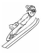 Coloring Skiing Ski Ausmalbilder Kolorowanki Printable Sportowe Dyscypliny Skifahren Kolorowanka Jumper Dzieci Mycoloring Kostenlos Zum Malvorlagen Dla Druku Popular Ausdrucken sketch template