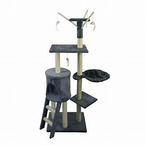 Arbre A Chaton : poils plumes arbre chat le magique 50x35x138 cm gris ~ Premium-room.com Idées de Décoration
