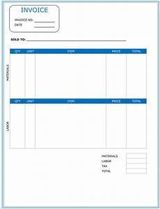 contractor invoice template 6 printable contractor invoices With construction invoice excel