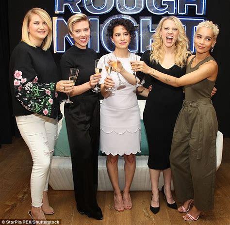 Scarlett Johansson rocks sophisticated black top   Daily ...