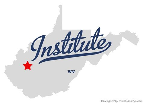 Map of Institute, WV, West Virginia